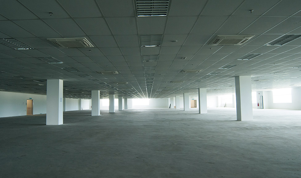 Air  Conditioning for a Large Floor Area