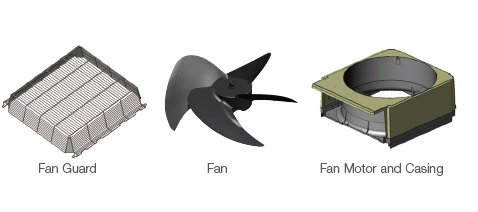 FAN Guard / FAN / Fan Motor and Casing