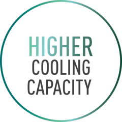 Higher cooling capacity text image