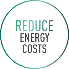 Reduce energy cost text image