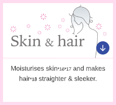 Moisturised Skin*16*17 & Straighter, Sleeker Hair*18