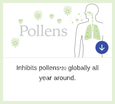 Inhibits Pollens*20 Globally All Year Around