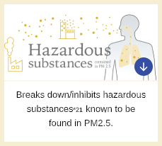 Breakdown/inhibition of Hazardous Substances*21 Known To Be Found In PM2.5