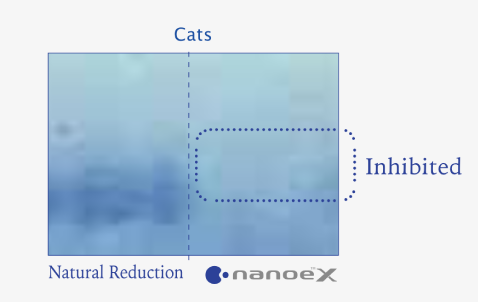 Effects of nanoe™ X on animals verified by disappearance of coloured section