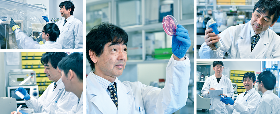 Professor Masahiro Sakaguchi looking at the effects of nanoe™ X from different experiments.